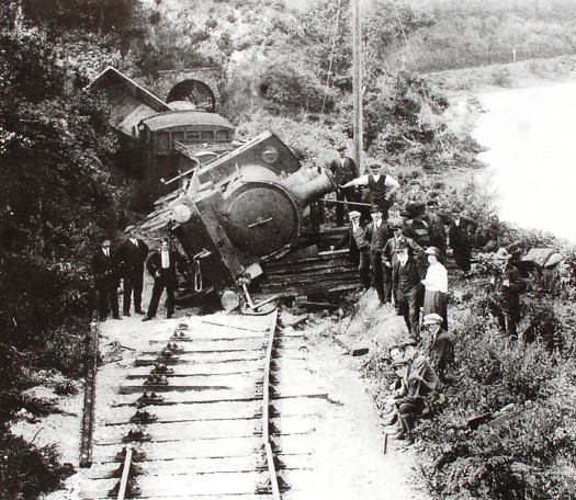 Irish civil war train derailment Killurin Wexford