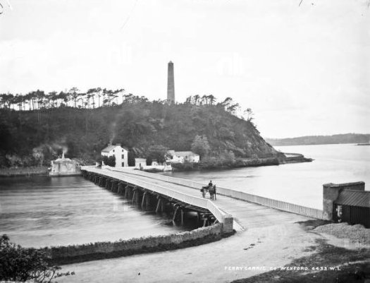 old photo ferrrycarrig bridge