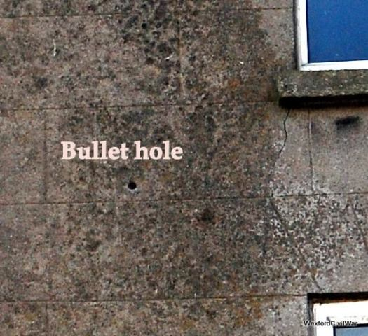 Irish Civil war bullet hole